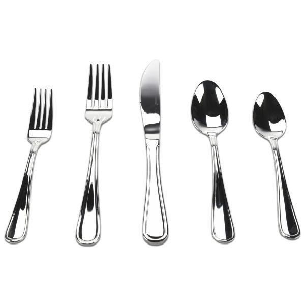 Elegance 20-piece 18/10 Stainless Steel Silverware Set