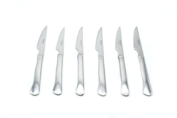 6pc Steak Knife Set w/ Wooden Storage Chest